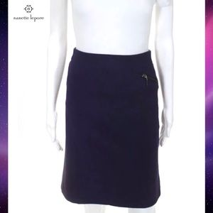 NANETTE LEPORE Chic Purple Kick Flare Pencil Skirt